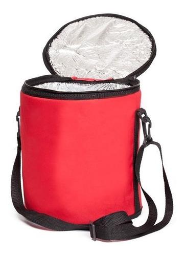 cooler térmico poket bag 11 litros com manta - vermelho