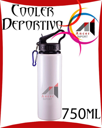 cooler termo botella deportiva de 750 ml para sublimar pop
