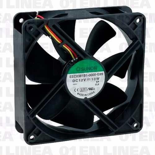 cooler turbina ventilador sunon 12v 120x120x38mm mec0381b1