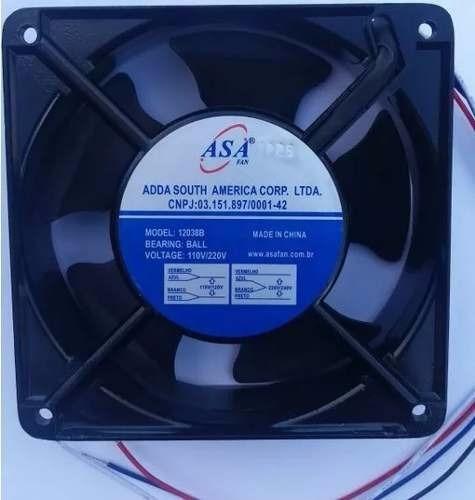 cooler ventilador motor new flow 12038-t2 220 vac 120x120 mm