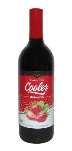 cooler vinho branco c/ suco de morango - terra do vinho