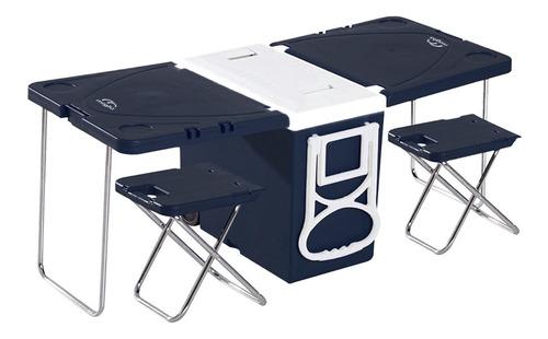 cooler y mesa de camping con 2 pisos 28 [l] miglu/ r3012