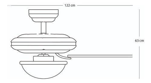 coolfan ventilador lampara techo luz blanca 46101