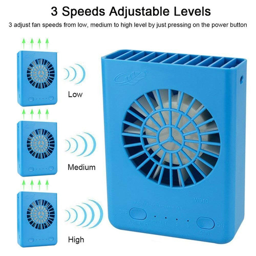 coolly portátil collar fan 3 velocidades de handheld ventil