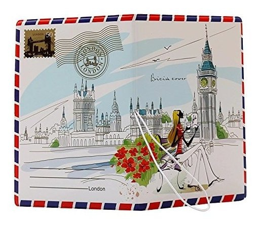 efewFgreDD Paris Coolrunner 1pcs Fashion Miss Love to Travel Passport Covers 3D Stereo Design Faux Leather ID Card Holders Stamp Envelope Passport Cases