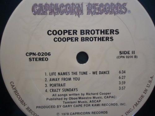 cooper brothers / cooper brothers vinyl lp acetato