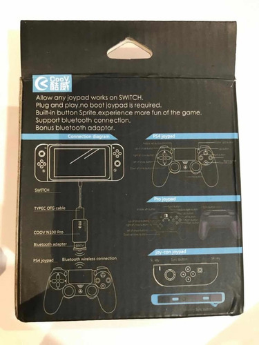 coov n100 pro bluetooth - controles ps4 e x1 no switch