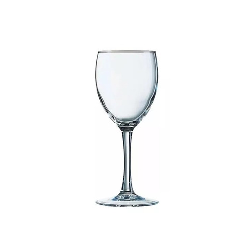 copa agua 310ml princesa arcoroc vidrio templado caja x6 uni