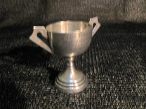 copa bañada en plata