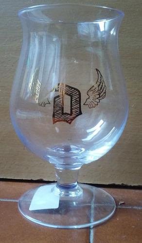 copa cerveza duvel logo con alas exclusiva