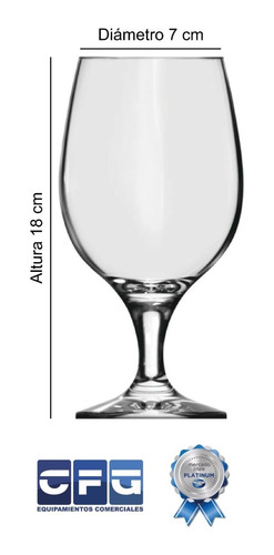 copa cerveza tipo belga 500ml nadir vidrio cervecero x12