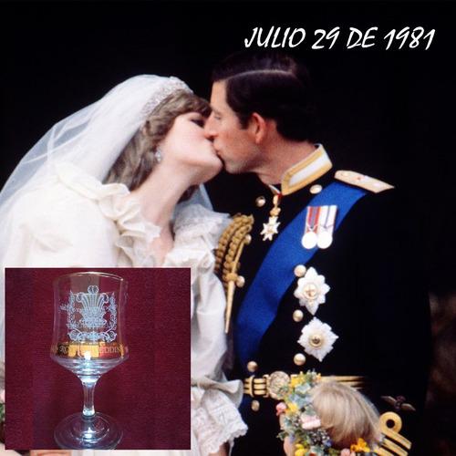copa colección royal wedding boda principe carlos y lady di