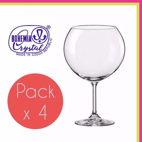 copa copon cristal bohemia brandy coctel 1050 ml set x4