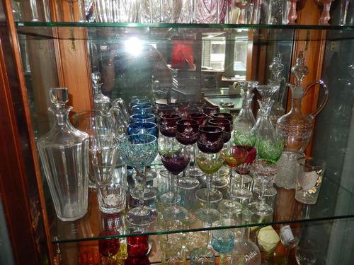 copa cristal tallado colores varios modelos antiguas