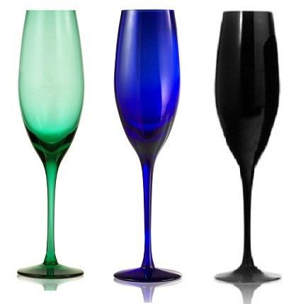 copa de champagne - cristal en colores
