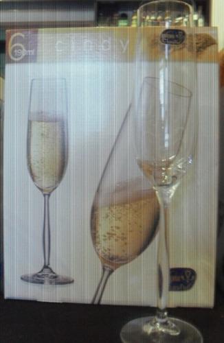 copa de champagne linea cindy x190 ml.  - cristal de bohemia