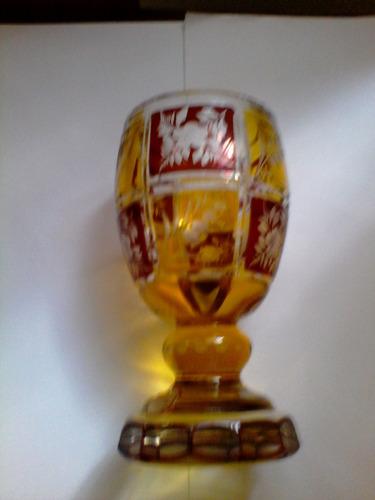 copa de colección cristal de boheme tallada