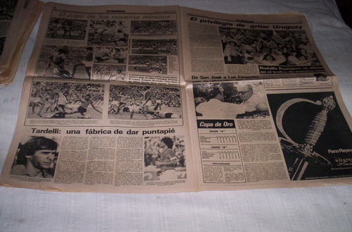 copa de oro 1980.suplementos deportivos buen estado.