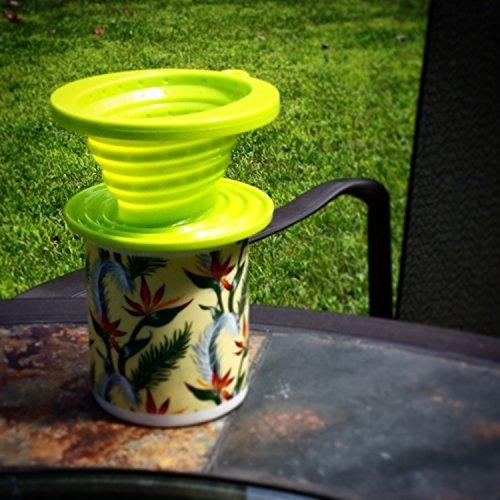 copa de silicona plegable individual cafetera - soporte par