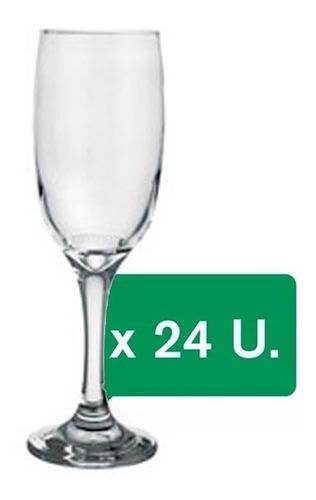 copa de vidrio rigolleau baires champagne 190ml caja x24 un