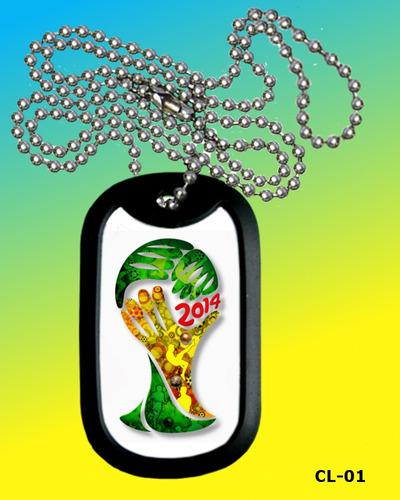 copa do mundo 2014 - brasil - colar ou chaveiro