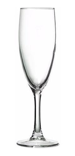 copa flauta 160ml princesa arcoroc vidrio templado caja x6 u