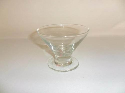 copa  helado fiesta de vidrio medidas 8.5 x 10.5 cm