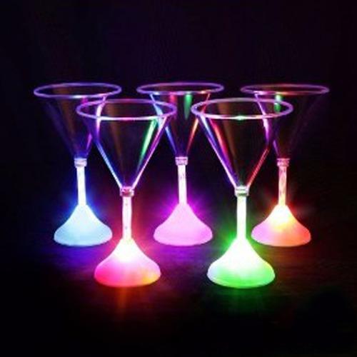 copa martini con led x unidades -fiesta- cotillon - luminoso