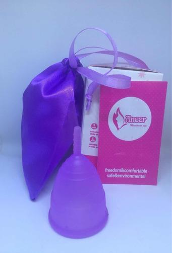 copa menstrual aneer suave y segura no translúcida