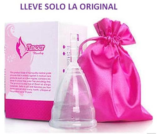 copa menstrual anner original 100% silicona + bolsa solo s