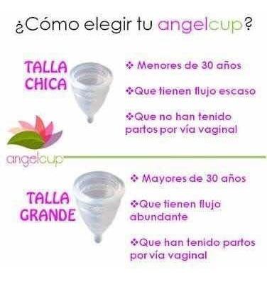 copa menstrual chica cristal ángel cup certificada por fda