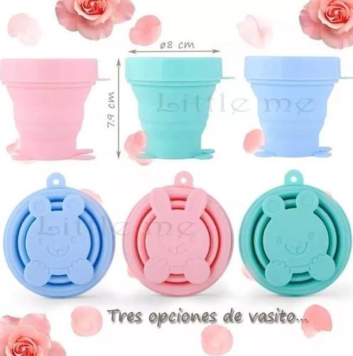 copa menstrual con vaso esterilizador y bolsa de tela