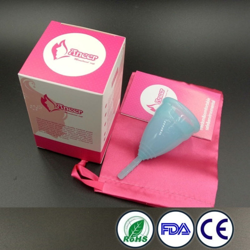 copa menstrual grado medico + guarda polvo 2 tallas t.fisica