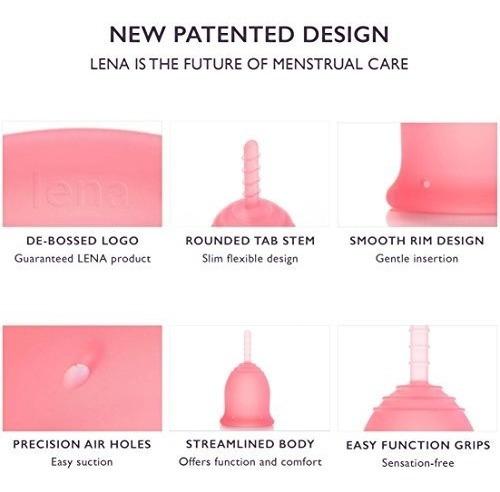 copa menstrual lena - hecho en ee. uu. - alternativa tampón