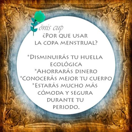 copa menstrual onis + vaso esterilizador + bolsa de tela