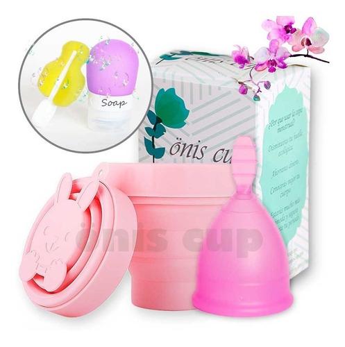copa menstrual onis + vaso esterilizador y bolsa de tela