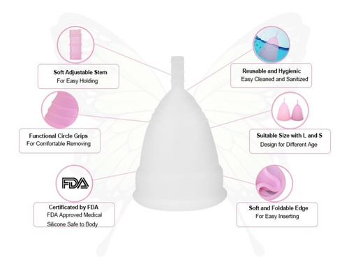 copa menstrual (pide la talla y el color que gustes )