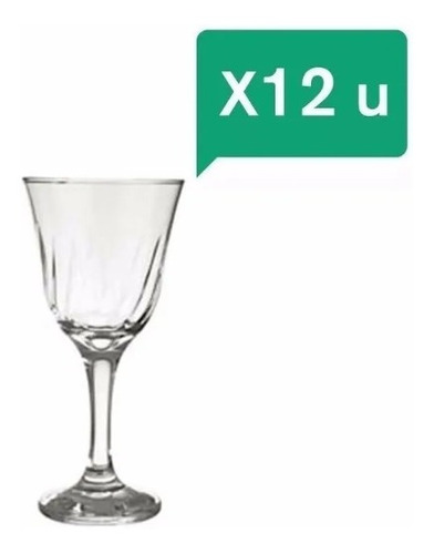 copa nadir lirio agua 365ml set x12 unidades vidrio