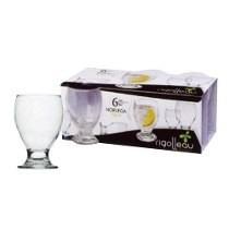 copa noruega agua vidrio rigolleau x6u.en caja *tiendadenda*