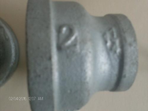 copa o reduccion galvanizada 2  a 1 1/4