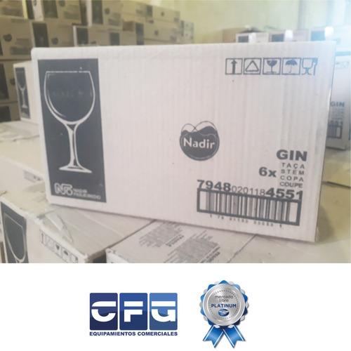 copa para gin tonic nadir copón vidrio 600 ml x12