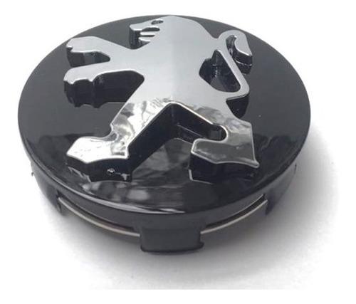 copa rin peugeot 206-207-307-308 negro 60mm logo cromado
