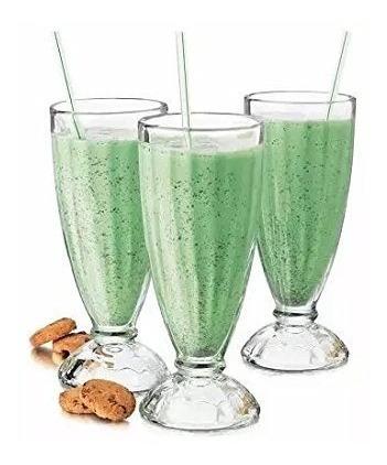 copa vidrio x 12 milkshake tropical 450cc alta trago vaso