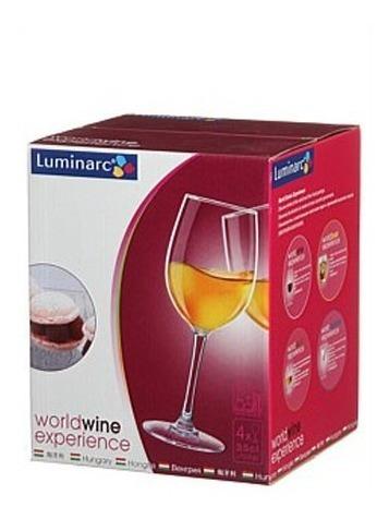 copa vino luminarc so wine cachet 350ml caja x 4 unidades