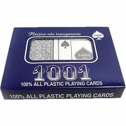 copag baralho 1001 100% plástico - estojo com 108 cartas