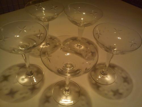 copas antiguas de champagne / sidra talladas (5)