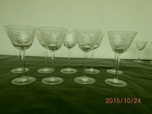 copas antiguas de cristal tallado
