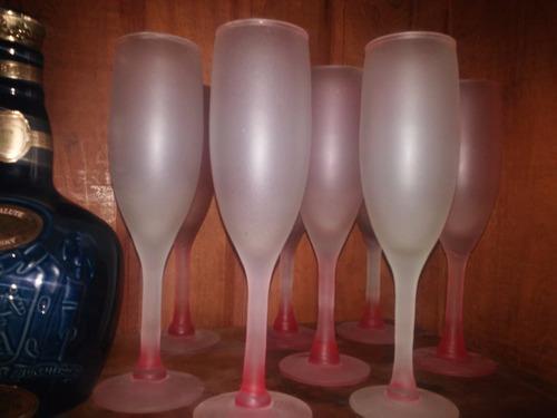 copas champagne vidrio