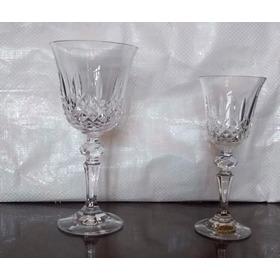 Copas Cristal Bohemia Diamantado 4 Vino 4 Agua Valor X Todas