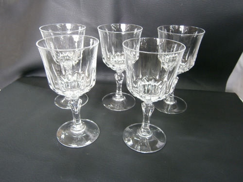 copas cristal bohemia x 5 x 13,5cm, precio x juego